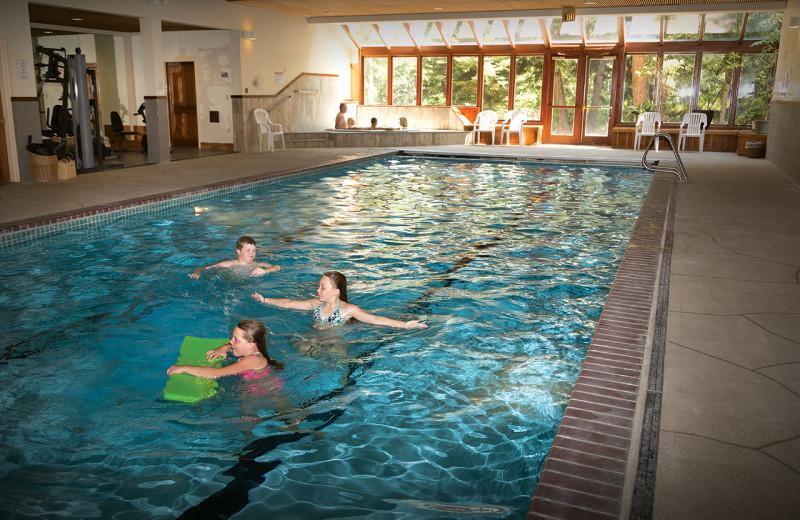 Indoor pool at Rock Creek Resort.