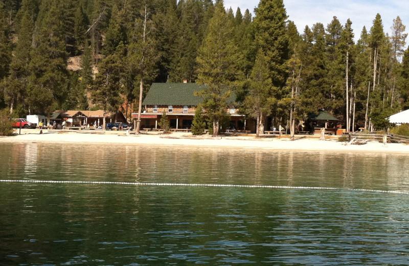 The beach at Redfish Lake Lodge.