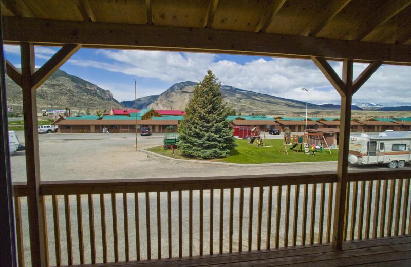 Porch View at Big Bear Motel