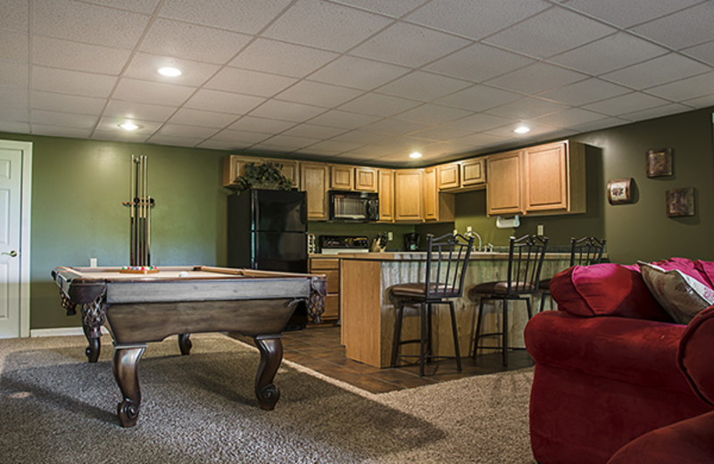 Game room at Hideaway Haven.