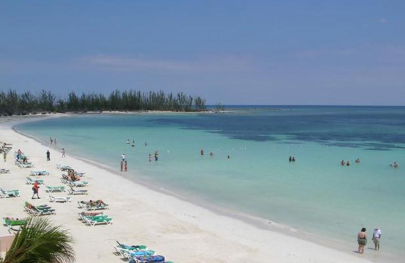 Beach at Island Seas Resort.