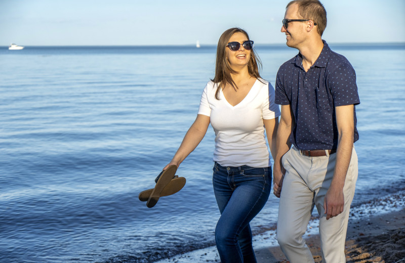 Romantic walk on Park Point Beach