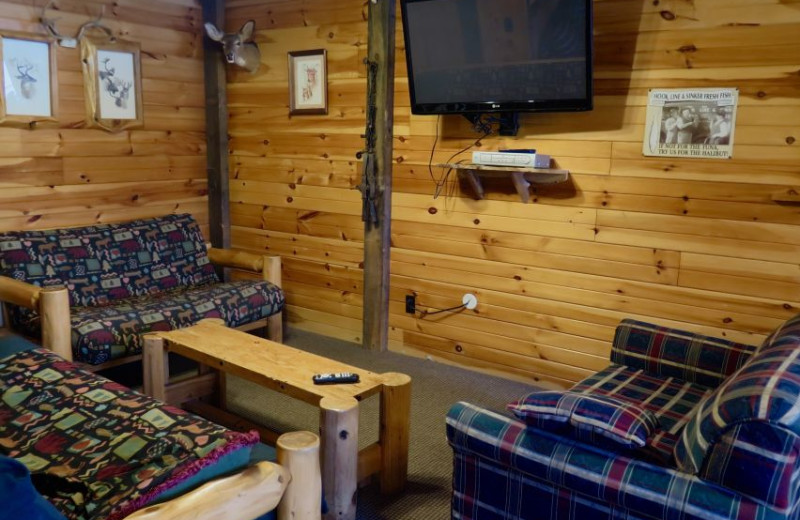 Guest living room at Sleeping Bear Resort.