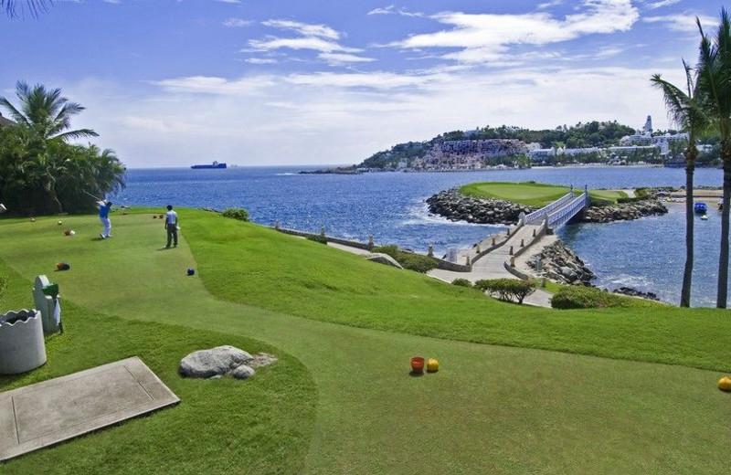 Golf course at Las Hadas Golf Resort and Marina.