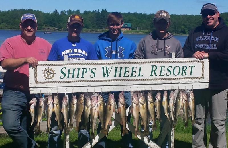 Fishing at Ship's Wheel Resort.
