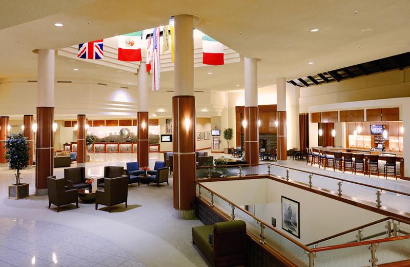Lobby area at Grand Traverse Resort.