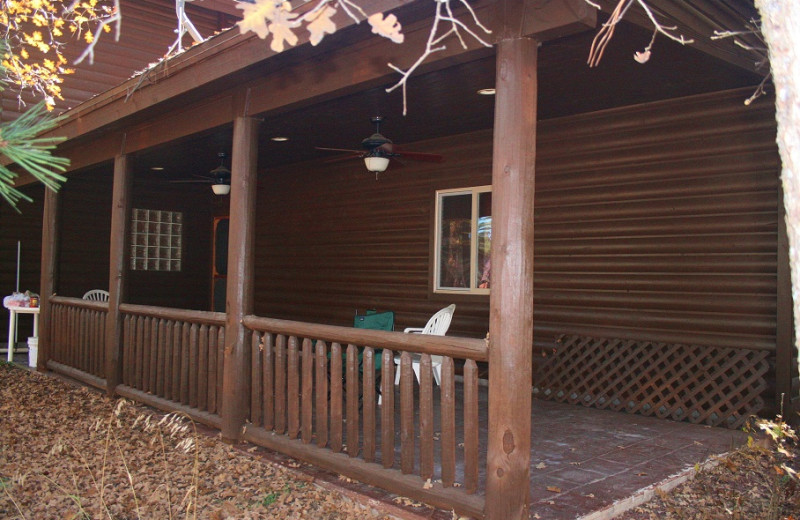 Private Deck at Tall Pines Getaway