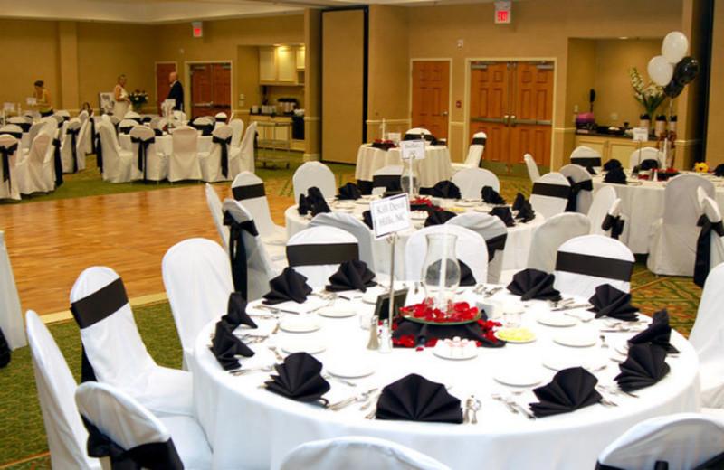 Wedding banquet at Hilton Garden Inn Outer Banks.
