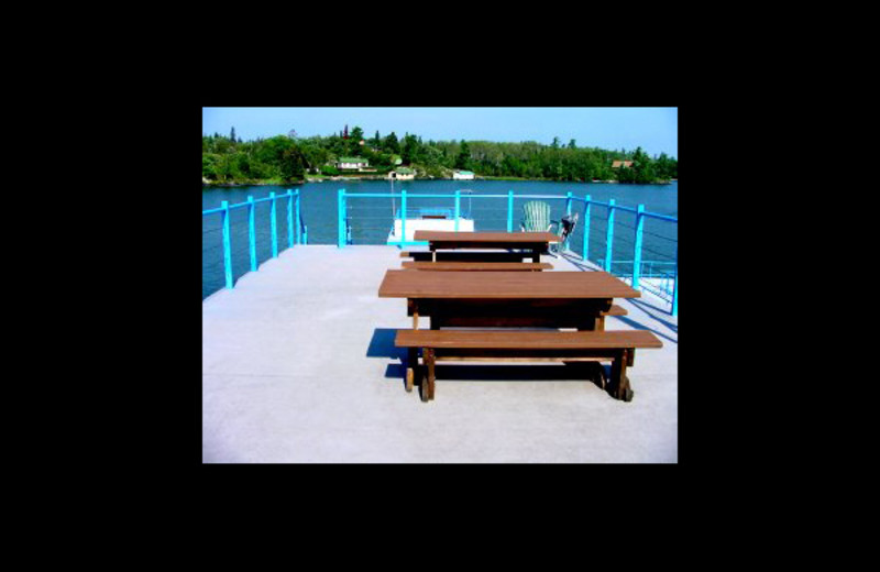 Houseboat deck at Floating Lodges.