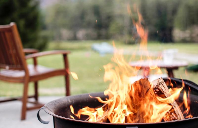 Bonfire at High Hampton Resort.