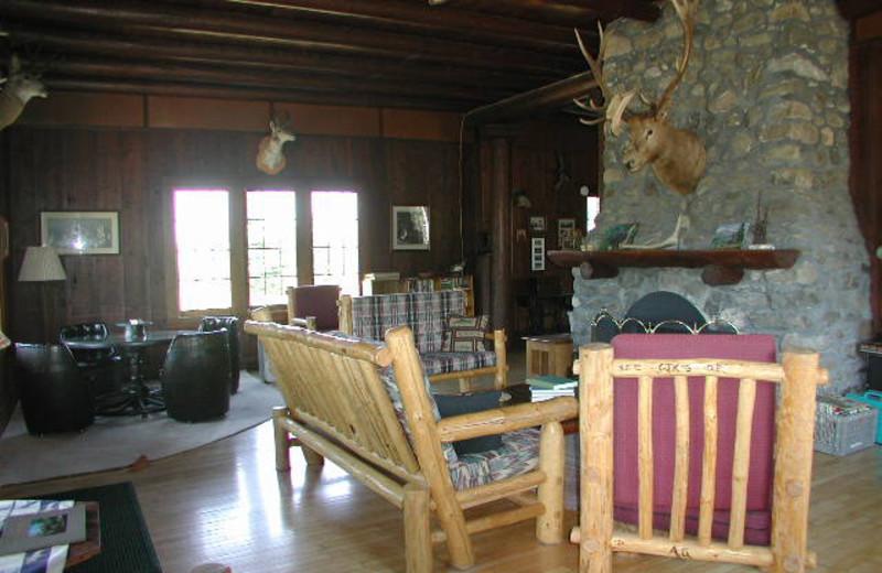 Lodge Living Room at Rising Wolf Ranch.