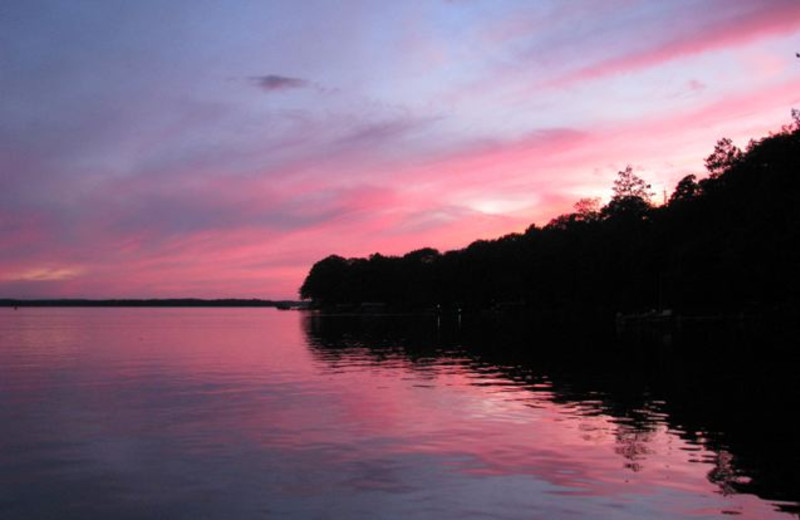 Sunset at Radtke's Sabinois Point Resort.