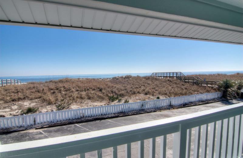 Balcony at Surfside Lodge Oceanfront.