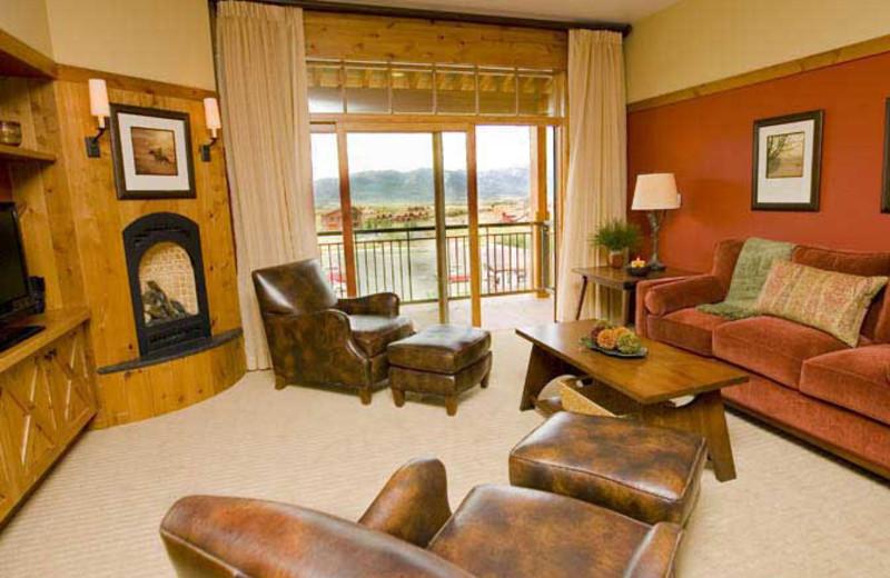 Suite interior at Teton Springs Lodge.