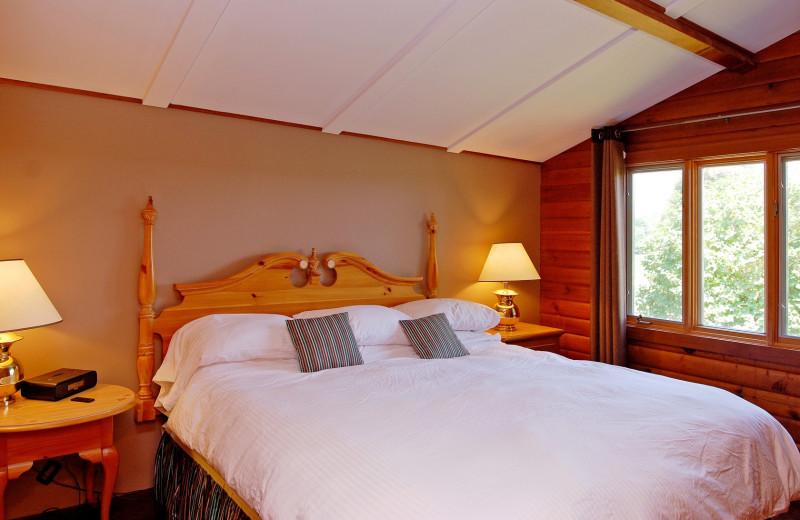 Cottage bedroom at Eganridge Resort, Country Club & Spa.