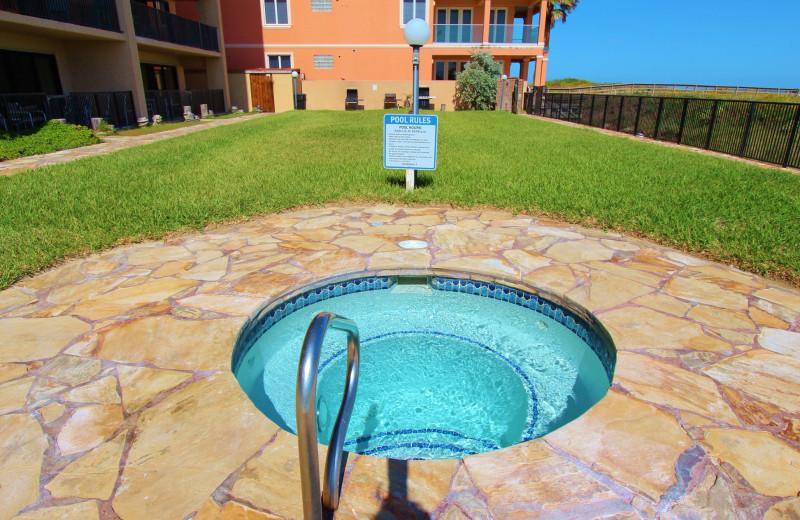 Hot tub at Seabreeze I.