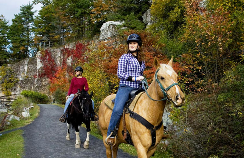 Horseback riding at Mohonk Mountain House.