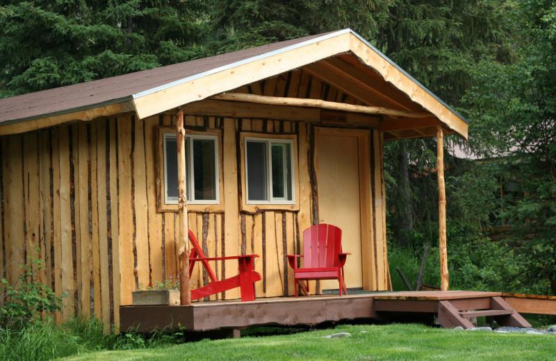 Cabin exterior at Kenai Riverside Lodge.