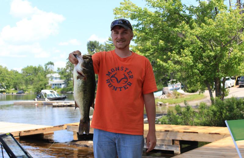 Fishing at Mashkinonje Lodge.