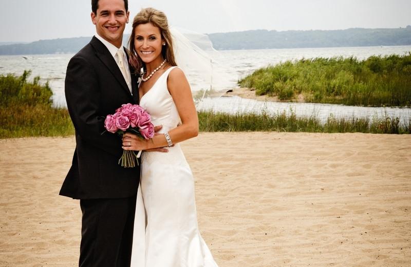 Beach wedding at Grand Traverse Resort.