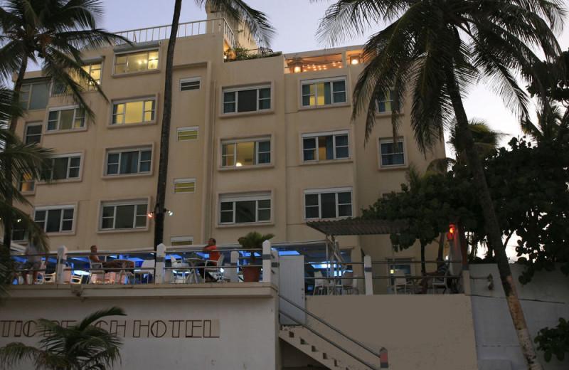 Exterior view of Atlantic Beach Hotel.