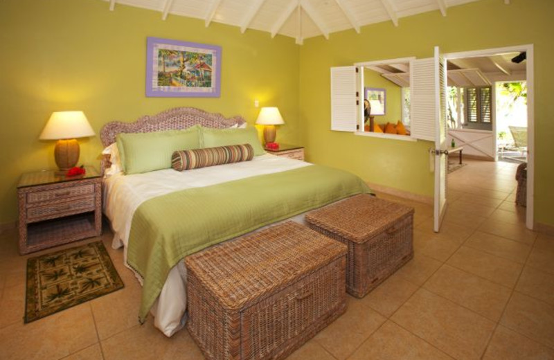 Guest room at The Nisbet Plantation Beach Club.