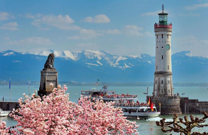 View from Hotel Bayerischer Hof Lindau.