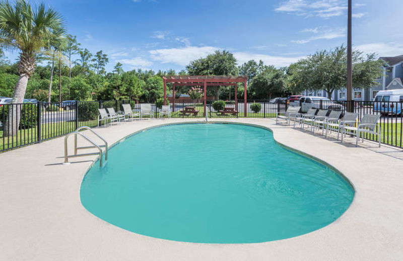 Outdoor pool at Microtel Inn & Suites of Gulf Shores.