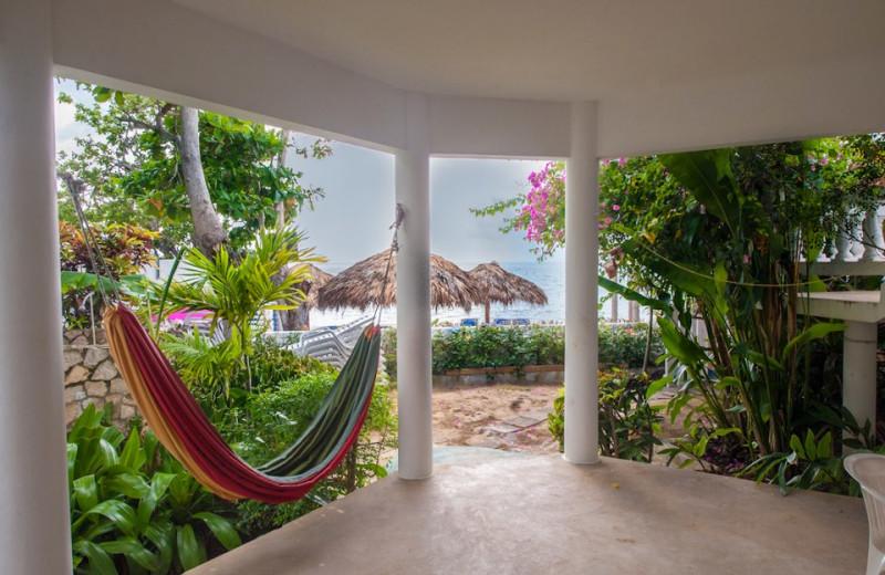 Rental porch at Beach House Villas.