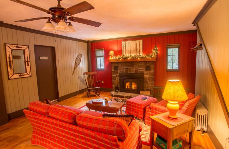 Living room at ADK Trail Inn.