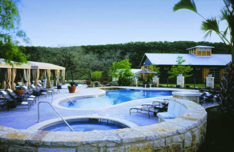 Outdoor Pool Area at Lake Austin Spa Resort
