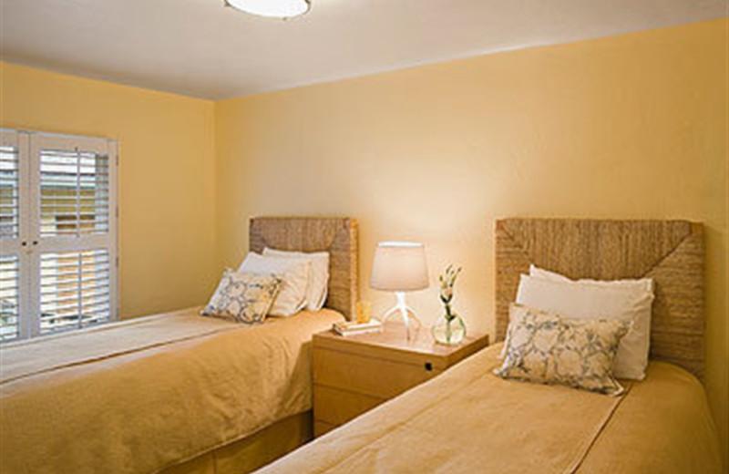 Cottage suite bedroom at Carmel Lodge.