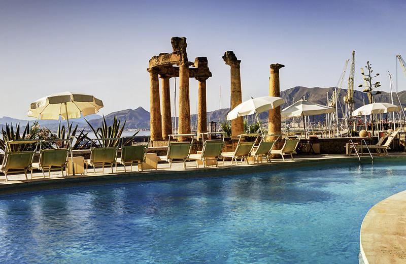 Outdoor pool at Villa Igiea Grand Hotel.