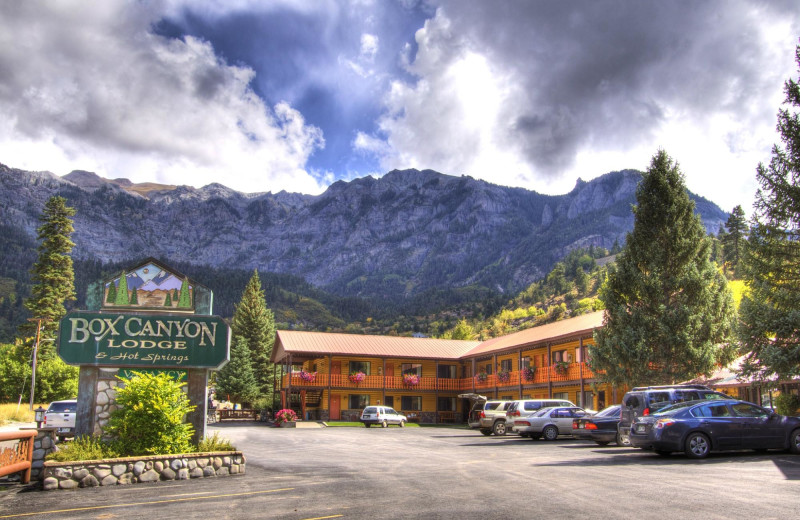 Exterior view of Box Canyon Lodge & Hot Springs.