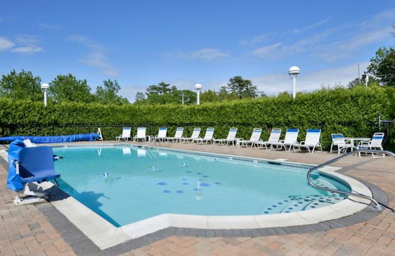 Outdoor pool at Bar Harbor Motel.