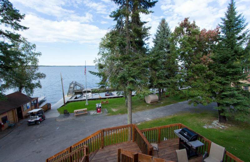 Lake view at Krueger's Harmony Beach Resort.
