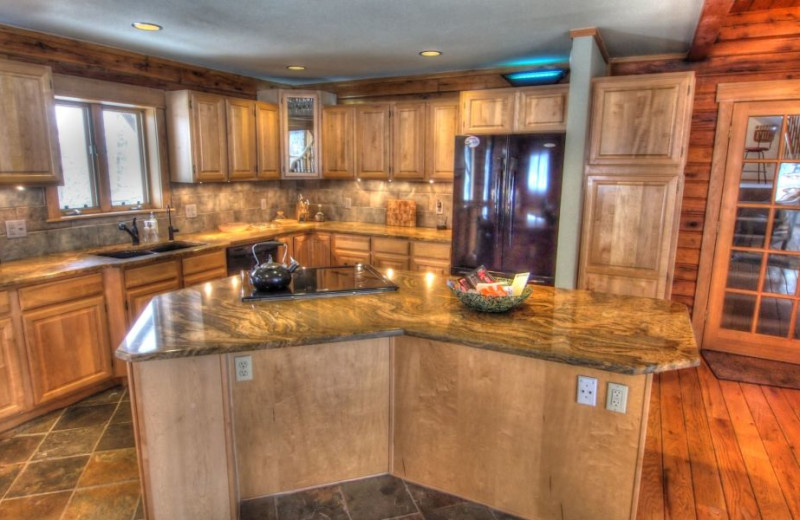 Vacation rental kitchen at SkyRun Vacation Rentals - Nederland, Colorado.