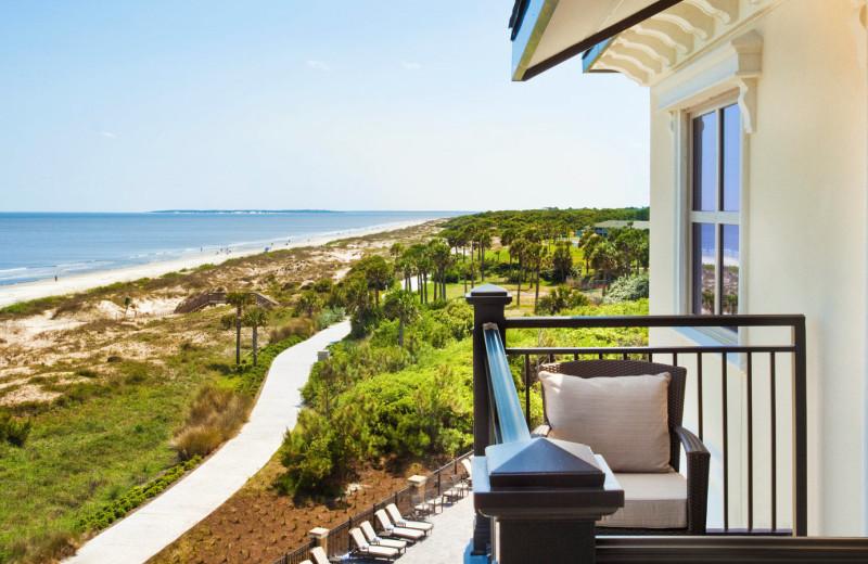 Ocean view from Westin Jekyll Island guest balcony