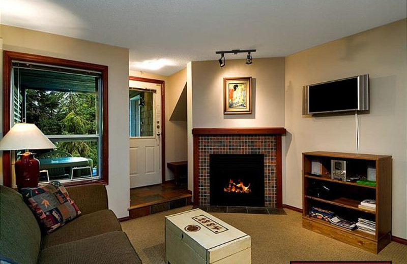 Rental living room at AllSeason Vacation Rentals.