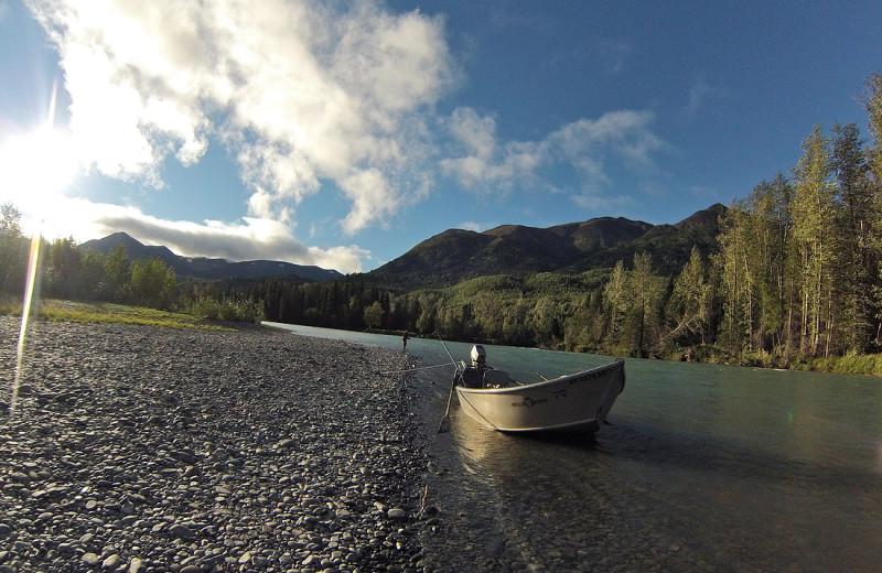 Fishing at Sunrise Inn.