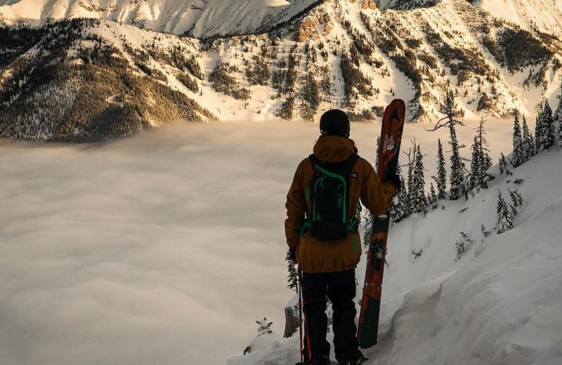 Snowboarding at Island Lake Lodge.