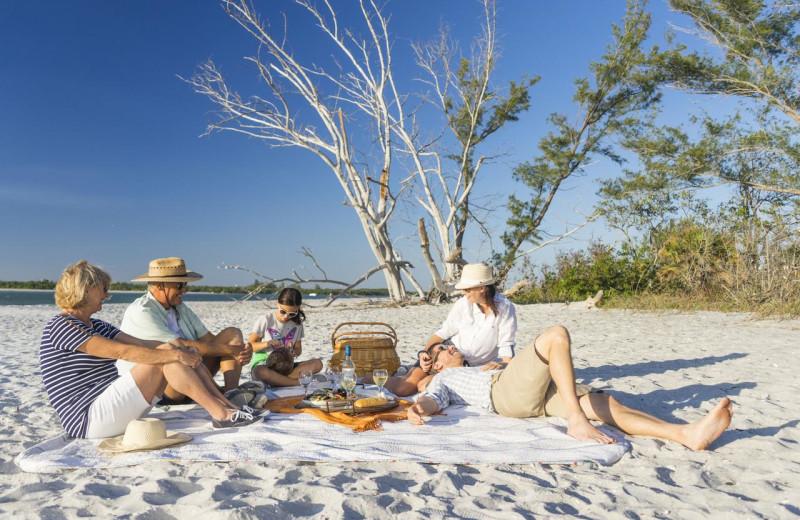 Beach picnic at Palm Island Resort.