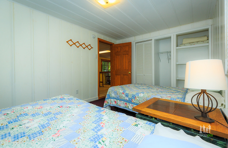 Cabin bedroom at Kon Tiki Resort.