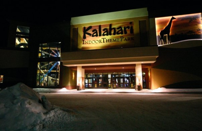 Exterior view of Kalahari Waterpark Resort Convention Center.