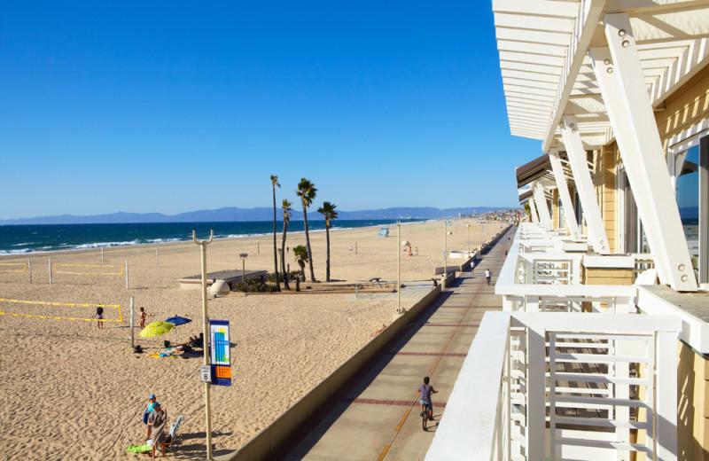 Beach view at Beach House Hotel Hermosa Beach.