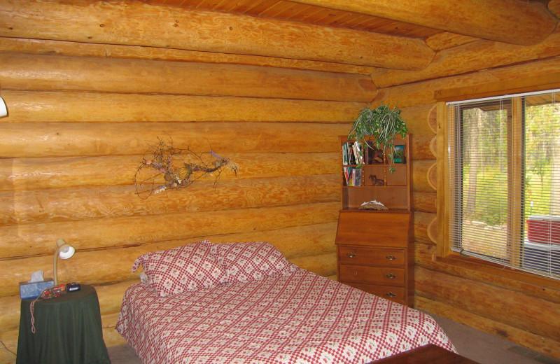 Guest bedroom at The Glacier Chalet.