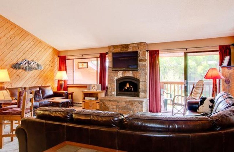 Vacation rental living room at Pine Ridge Condominiums.