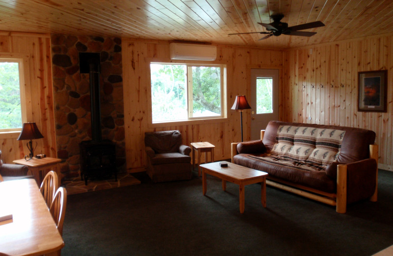 Lodge living area at Pine Terrace Resort.