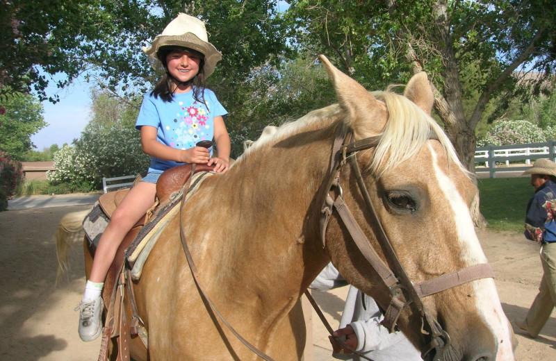 Horseback riding at Silver Saddle Ranch & Club.