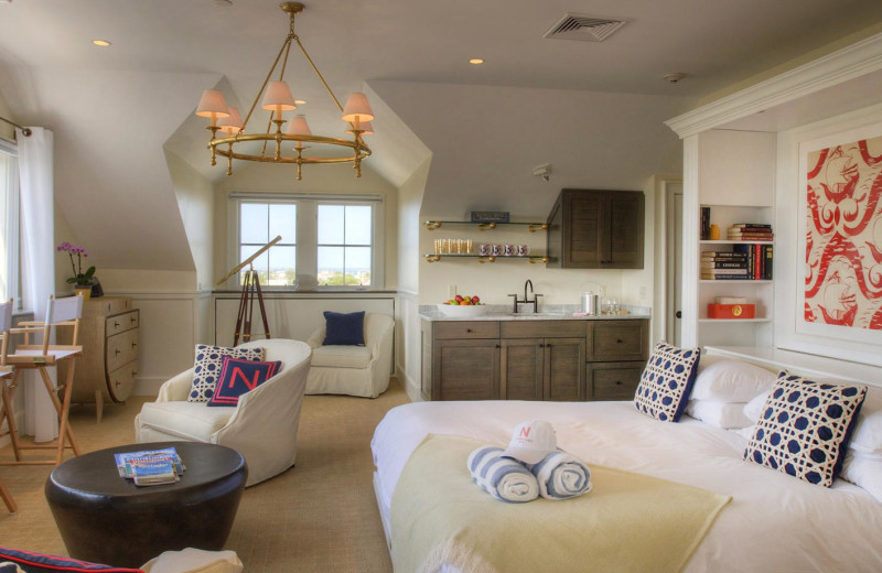 Guest room at The Nantucket Hotel and Resort.